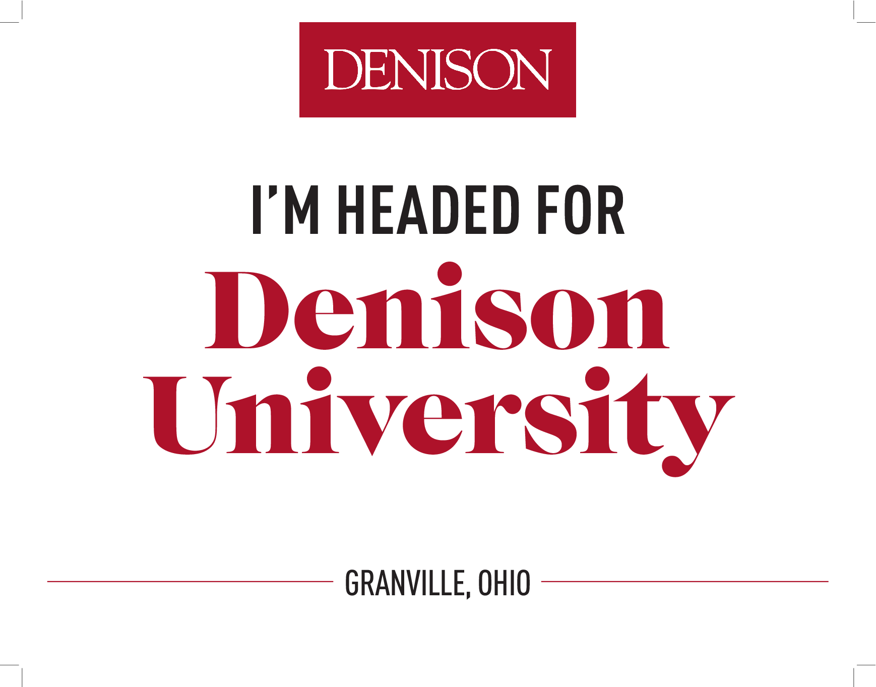 I'm Headed for Denison